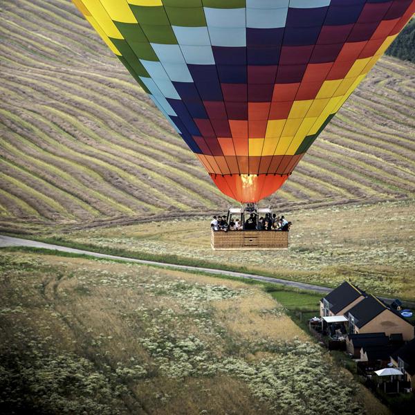 Ballonflyvning over Fyn