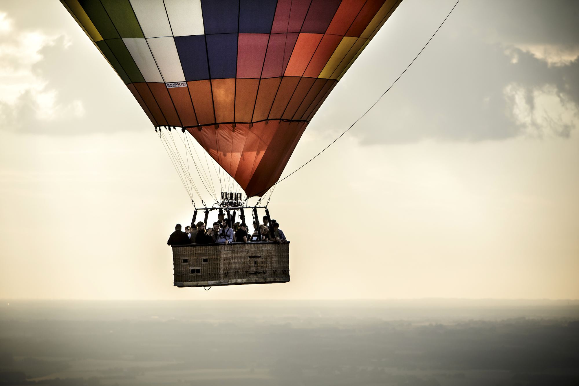 En ballonflyvning er en spændende gave